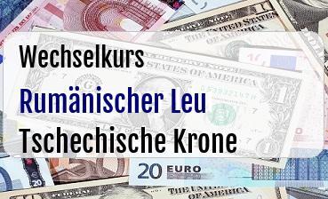 Rumänischer Leu in Tschechische Krone