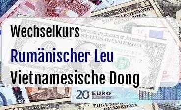 Rumänischer Leu in Vietnamesische Dong