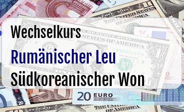 Rumänischer Leu in Südkoreanischer Won