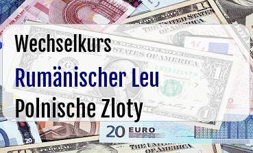 Rumänischer Leu in Polnische Zloty