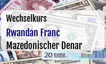 Rwandan Franc in Mazedonischer Denar