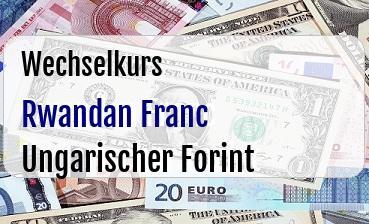Rwandan Franc in Ungarischer Forint