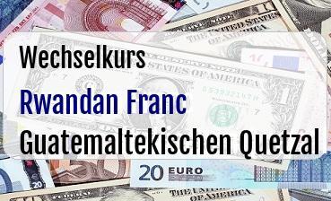 Rwandan Franc in Guatemaltekischen Quetzal