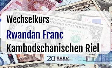 Rwandan Franc in Kambodschanischen Riel
