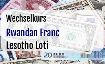 Rwandan Franc in Lesotho Loti