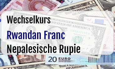 Rwandan Franc in Nepalesische Rupie