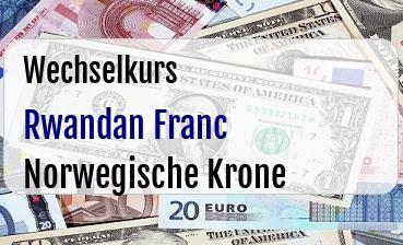 Rwandan Franc in Norwegische Krone