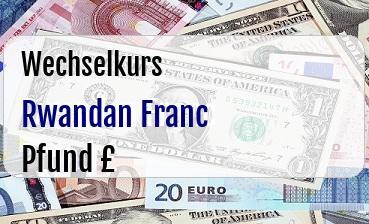 Rwandan Franc in Britische Pfund