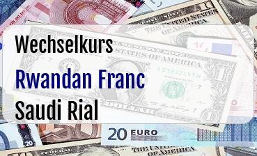 Rwandan Franc in Saudi Rial