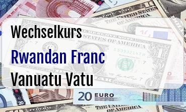 Rwandan Franc in Vanuatu Vatu