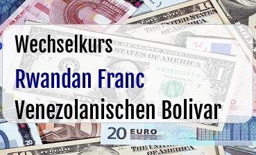 Rwandan Franc in Venezolanischen Bolivar