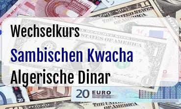 Sambischen Kwacha in Algerische Dinar