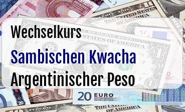 Sambischen Kwacha in Argentinischer Peso