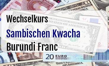 Sambischen Kwacha in Burundi Franc