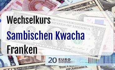 Sambischen Kwacha in Schweizer Franken