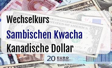 Sambischen Kwacha in Kanadische Dollar