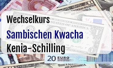 Sambischen Kwacha in Kenia-Schilling