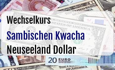 Sambischen Kwacha in Neuseeland Dollar
