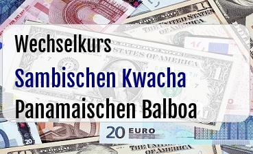 Sambischen Kwacha in Panamaischen Balboa
