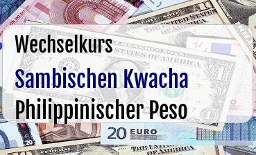 Sambischen Kwacha in Philippinischer Peso