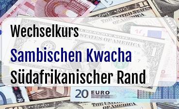 Sambischen Kwacha in Südafrikanischer Rand