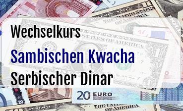 Sambischen Kwacha in Serbischer Dinar