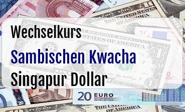Sambischen Kwacha in Singapur Dollar