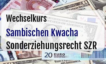 Sambischen Kwacha in Sonderziehungsrecht SZR