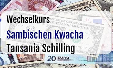 Sambischen Kwacha in Tansania Schilling