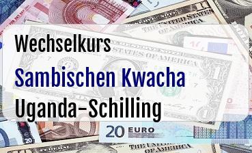 Sambischen Kwacha in Uganda-Schilling