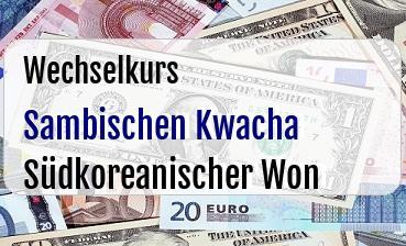 Sambischen Kwacha in Südkoreanischer Won
