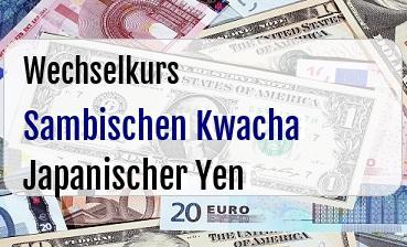 Sambischen Kwacha in Japanischer Yen