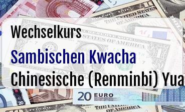 Sambischen Kwacha in Chinesische (Renminbi) Yuan