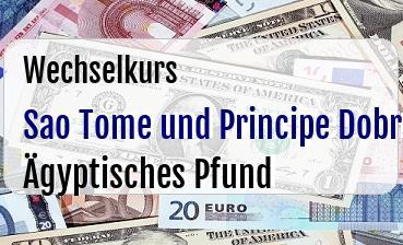 Sao Tome und Principe Dobra in Ägyptisches Pfund