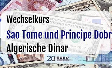 Sao Tome und Principe Dobra in Algerische Dinar