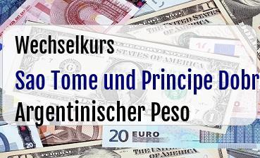 Sao Tome und Principe Dobra in Argentinischer Peso