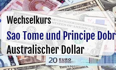 Sao Tome und Principe Dobra in Australischer Dollar