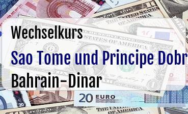 Sao Tome und Principe Dobra in Bahrain-Dinar