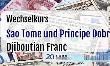 Sao Tome und Principe Dobra in Djiboutian Franc