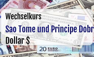Sao Tome und Principe Dobra in US Dollar