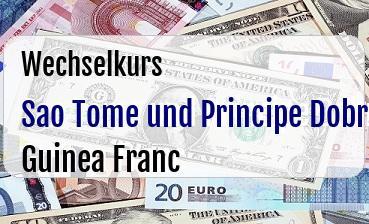 Sao Tome und Principe Dobra in Guinea Franc