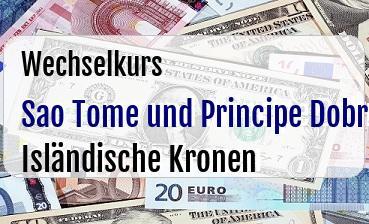 Sao Tome und Principe Dobra in Isländische Kronen