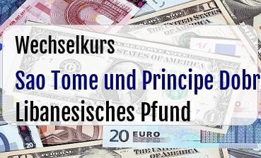 Sao Tome und Principe Dobra in Libanesisches Pfund