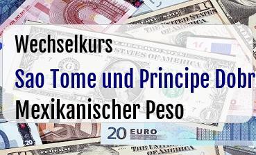 Sao Tome und Principe Dobra in Mexikanischer Peso