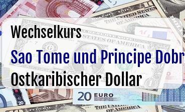 Sao Tome und Principe Dobra in Ostkaribischer Dollar