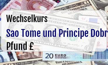 Sao Tome und Principe Dobra in Britische Pfund