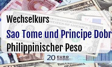 Sao Tome und Principe Dobra in Philippinischer Peso