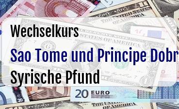 Sao Tome und Principe Dobra in Syrische Pfund