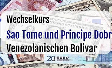 Sao Tome und Principe Dobra in Venezolanischen Bolivar