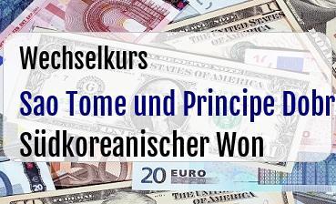 Sao Tome und Principe Dobra in Südkoreanischer Won